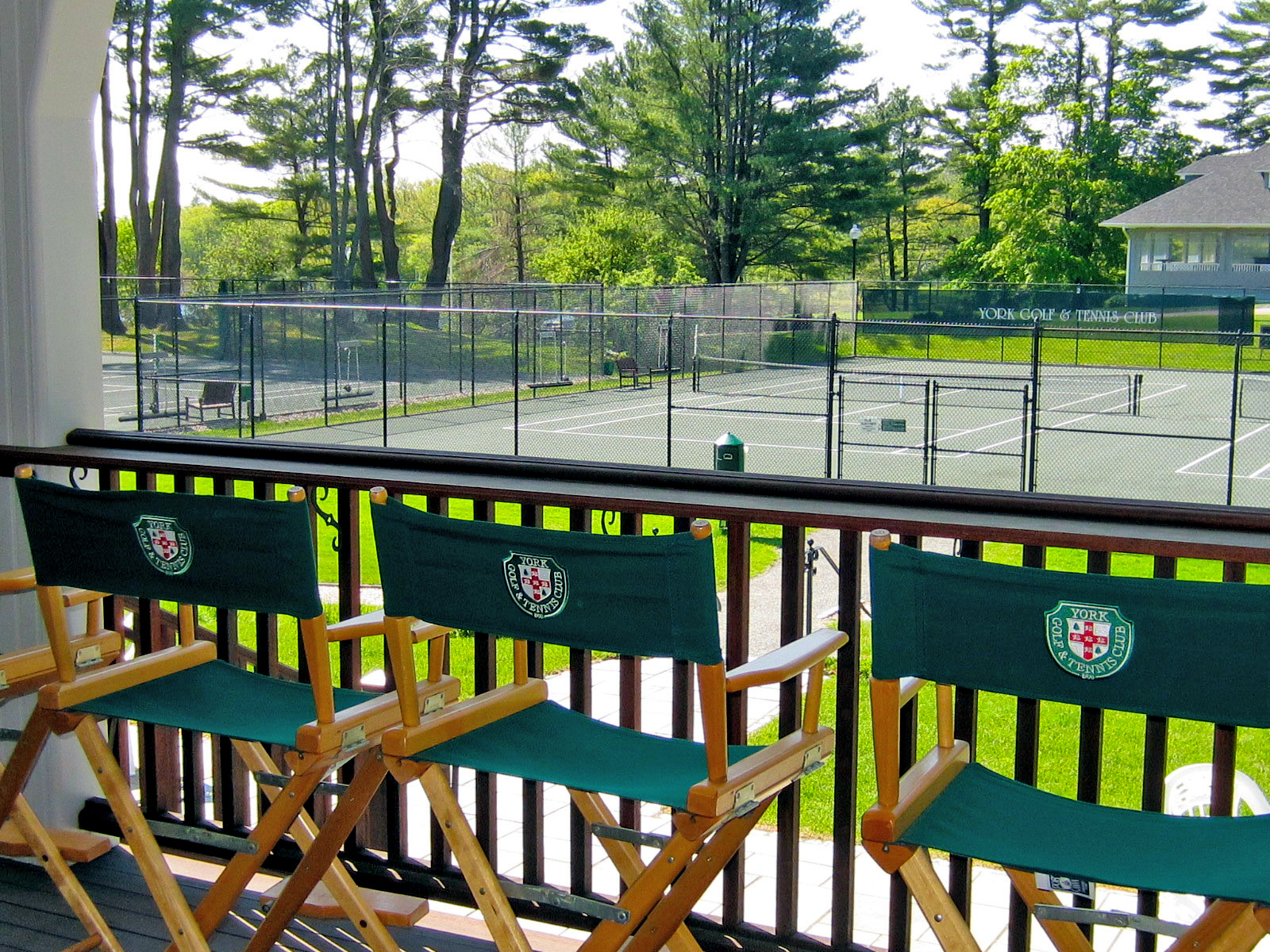 York Golf and Tennis Club, Tennis Club house, looking out from the covered porch
